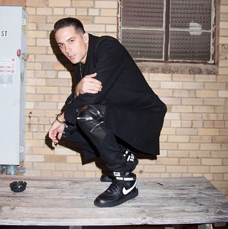G-Eazy applies a minimalist approach by styling the Supreme x Nike Air Force 1 High with skinny Balmain jeans and a sleek topcoat.