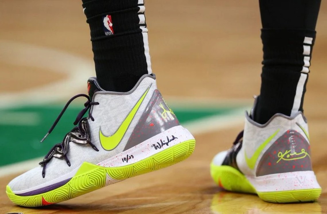 "3c8f23f1240b Kyrie Irving in the Nike Kyrie 5 ""Mamba Mentality"" vs. Orlando Magic  (Maddie Meyer Getty Images) ..."