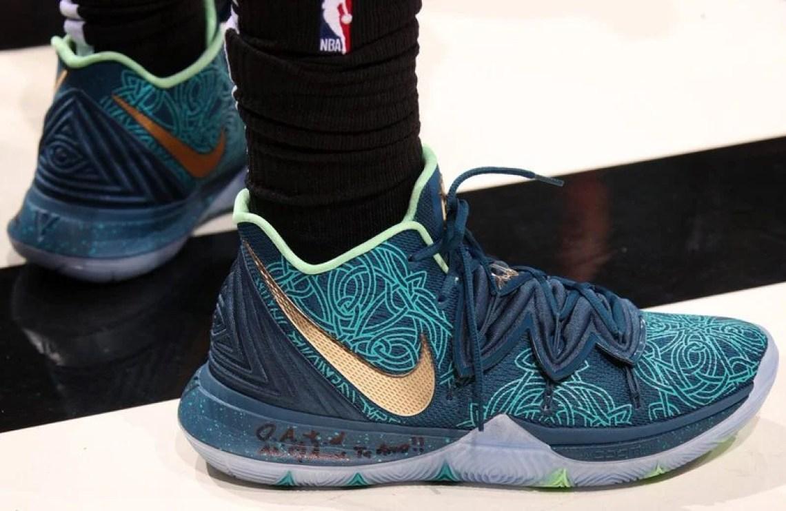 quite nice 79c3f d3da5 Kyrie Irving in the Nike Kyrie 5 PE vs. Miami Heat (Issac Baldizon NBAE via  Getty Images)
