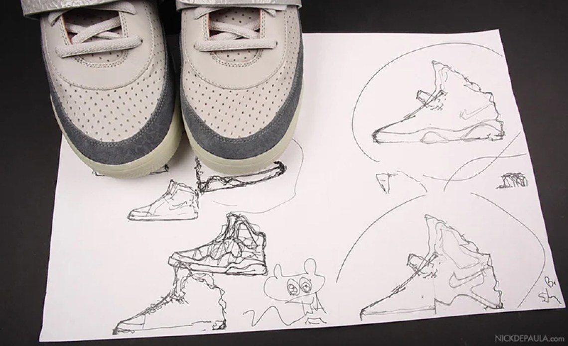 "694b7a457 The Nike Air Yeezy 1 ""Zen Grey""  a sneaker which paints a thousand  pictures"