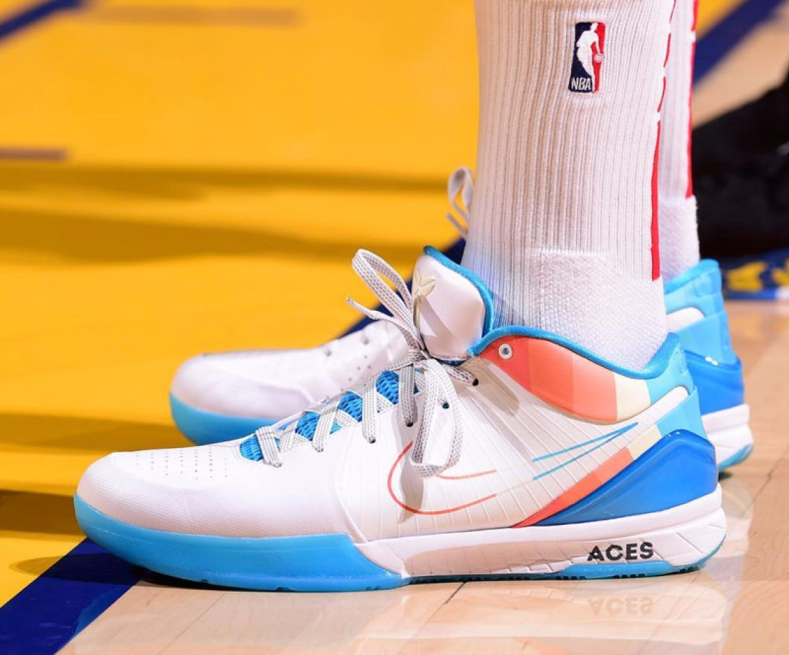 "quality design 80e41 c8efb PJ Tucker in his ""ACES"" Nike Kobe 4 Protro Custom (photo by Noah  Graham NBAE via Getty Images) ..."