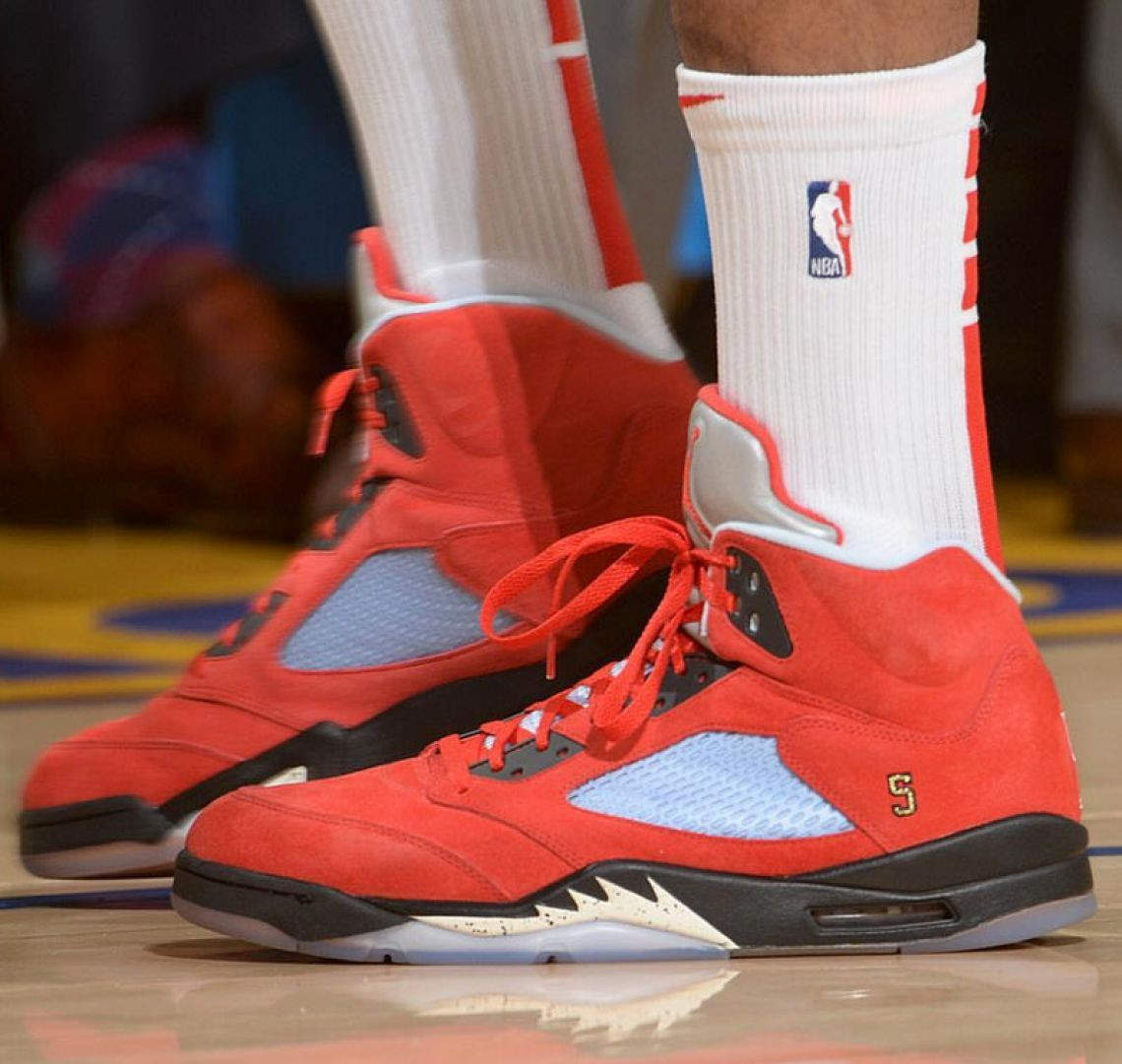 0f730fb75 ... PJ Tucker in the Trophy Room x Air Jordan 5 (photo via NBA Kicks) ...