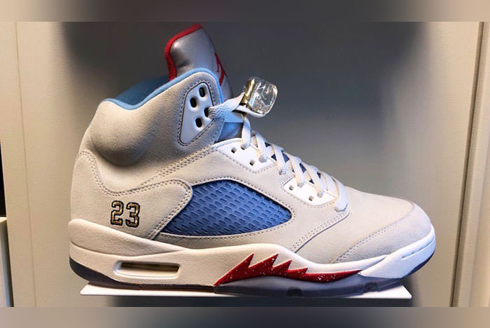 "f04b9a91db0 This ""Sail"" story follows the ""Ice Blue"" Air Jordan 5 JSP that almost  follows the same color palette as Travis Scott's best of 2018 Air Jordan 4."