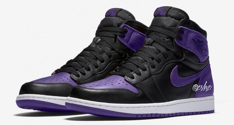 """lowest price 549c4 e7298 Air Jordan 1 """"Court Purple"""" Could Revive """"Banned"""" Styling"""