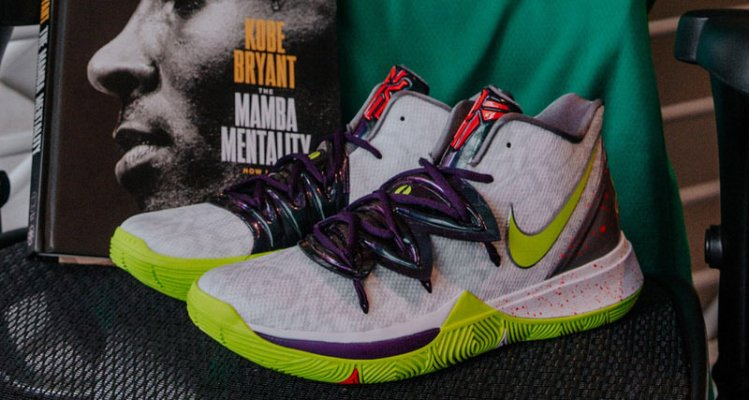 "new products 8161b 19b7f How Kyrie Goes Kobe on His ""Mamba Mentality"" Nikes"