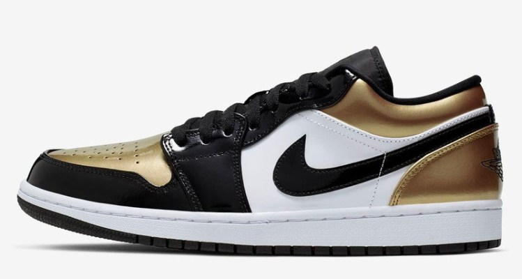 """8696eae924d """"Gold Toe"""" Air Jordan 1 Lows Come into Clearer View"""