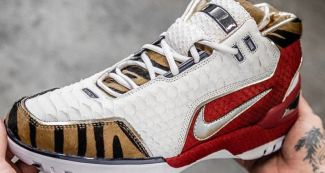 "Luxury LeBrons Come to Life on ""Tigers and Snakes"" Air Zoom Generation Custom"
