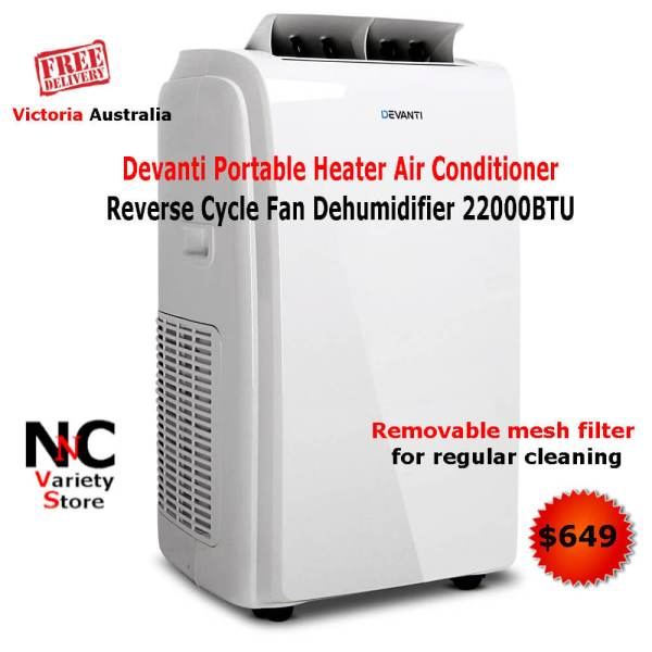 4ee1141a490 Devanti Portable Heater Air Conditioner Reverse Cycle Fan Dehumidifier  22000BTU - Nice n Cheap Variety Store