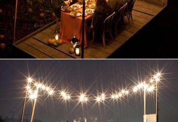 Guirnaldas de luces en el gran día