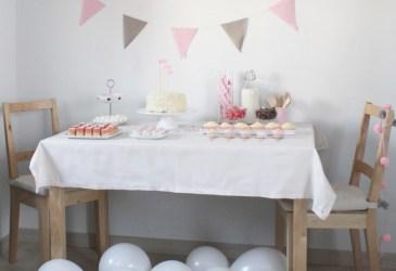 Un cumpleaños en rosa y beige