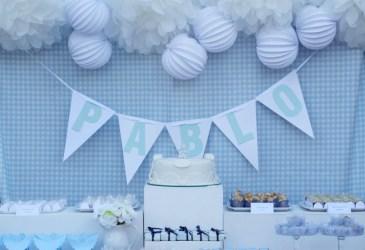 Un bautizo azul y blanco muy especial