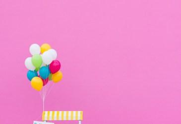 Cosas bonitas: Un puesto de globos de colores