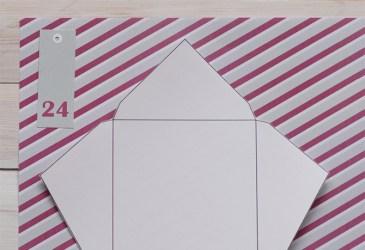 Calendario de adviento DIY: Plantilla para hacer sobres cuadrados