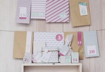 Calendario de adviento DIY: Día 2 plantilla para hacer sobres
