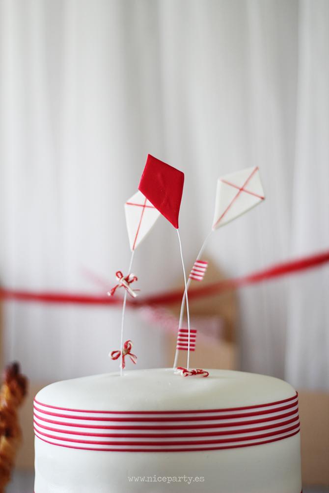 Nice Party cumpleaños Mary Poppins mesa de dulces cometas tarta