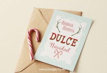 Freebie: Postal navideña para imprimir