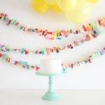 Guirnaldas de colores para tus mesas dulces
