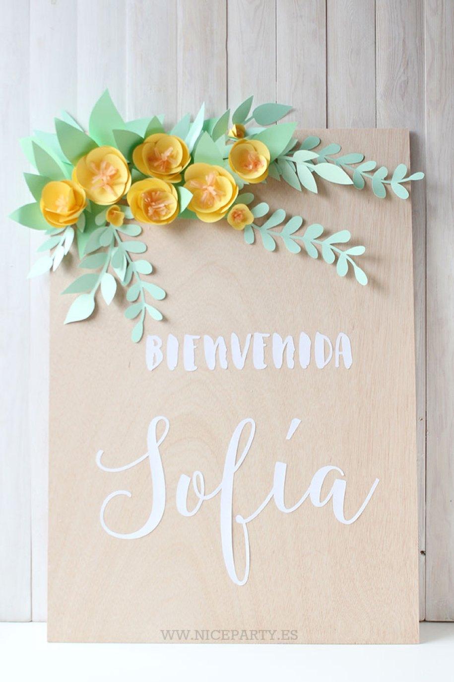 nice-party-cartel-de-madera-y-flores-de-papel-2