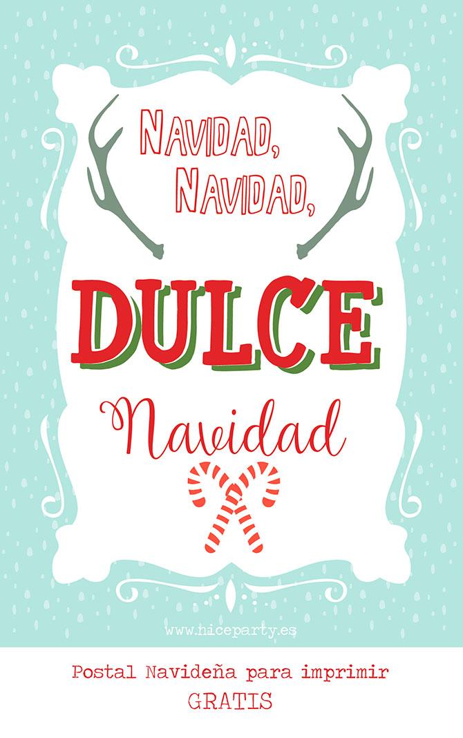 Nice Party postal de navidad para descargar gratis