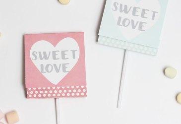 DIY San Valentín: Imprimible para piruletas