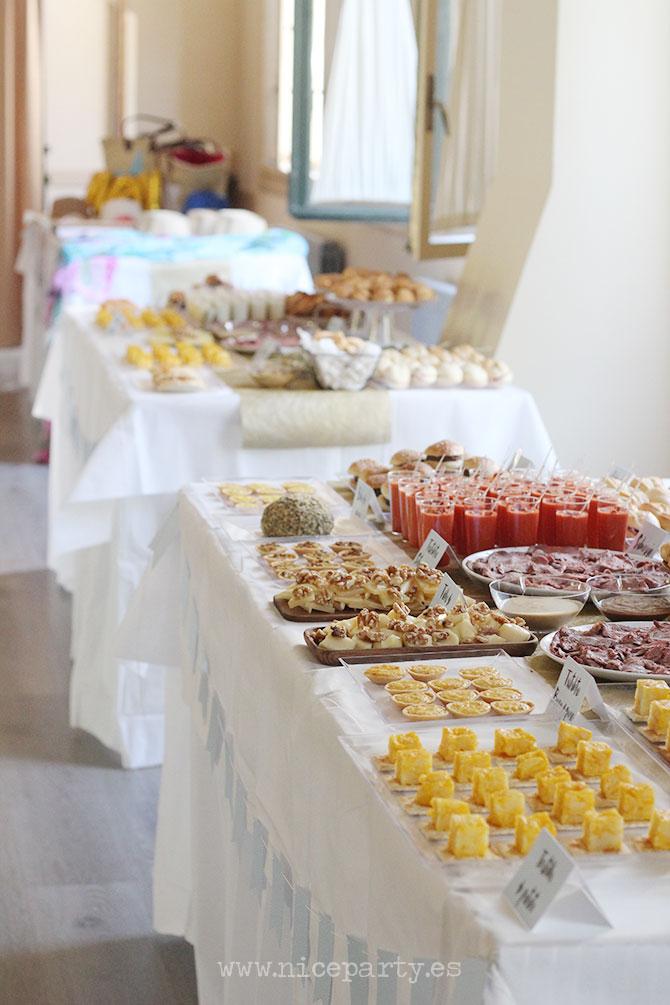 Nice Party fiesta 70 cumpleaños decoración y mesa de dulces dorado (12)
