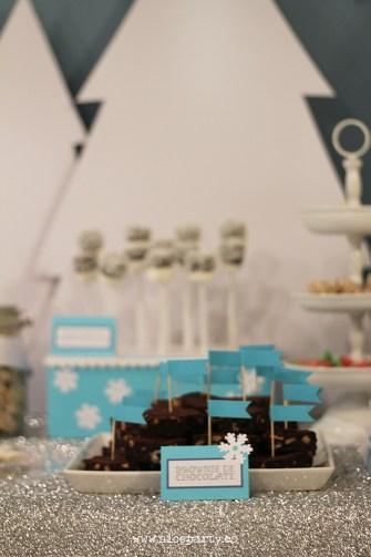 Nice Party fiesta Frozen. Mesa de dulces. brownie