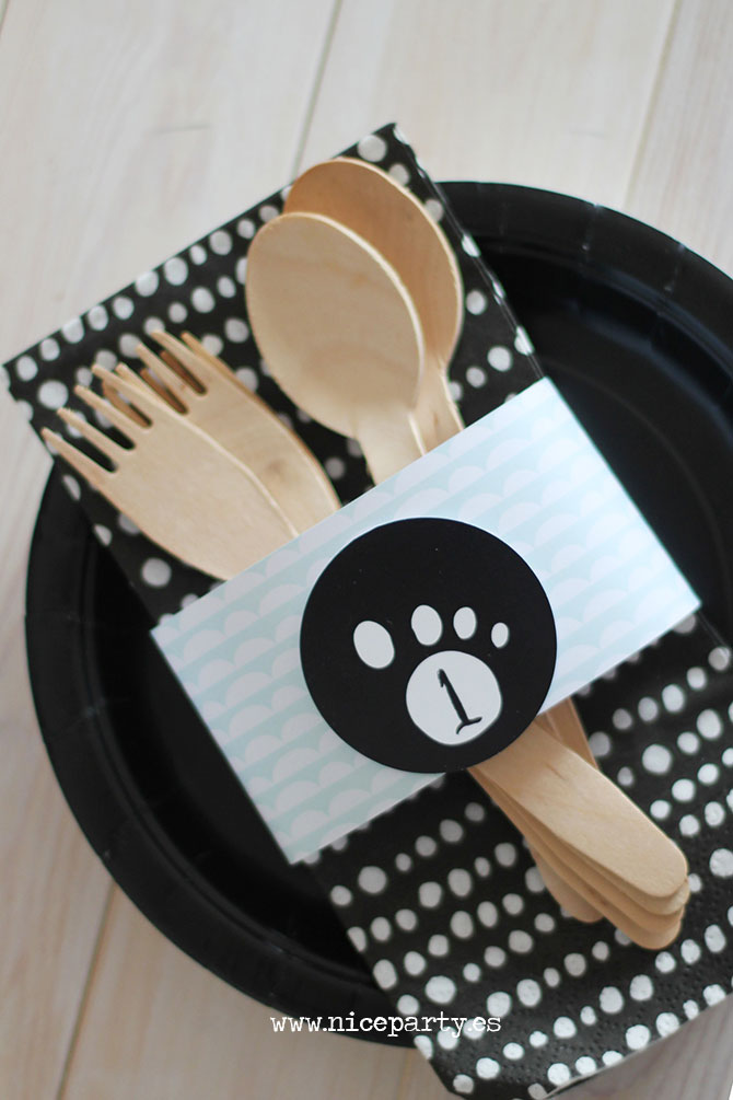 Nice Party fiesta oso panda mesa de dulces- pack de fiesta para imprimir