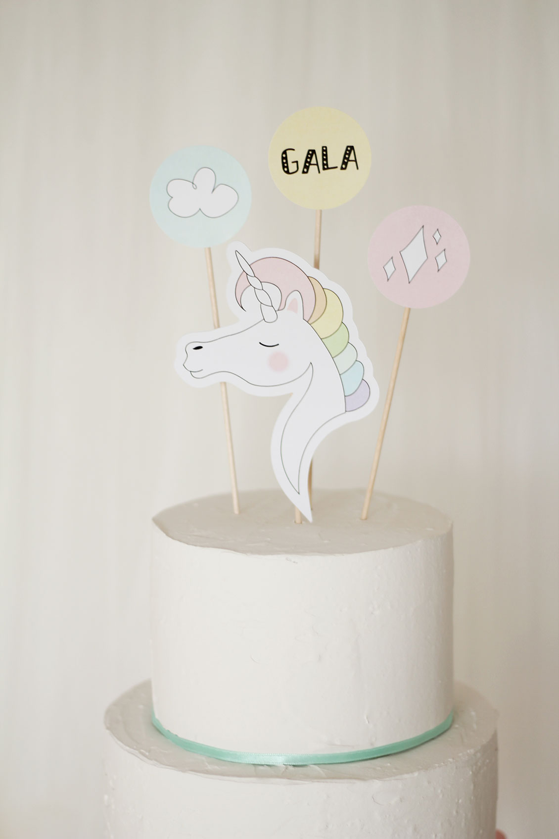Nice Party Unicorn Party kit. Printable kit. Cake topper