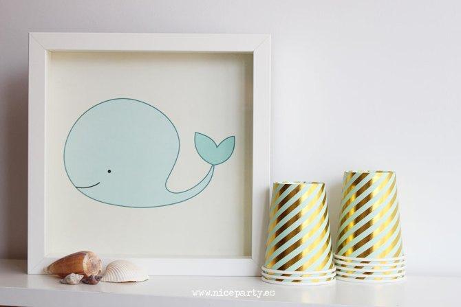 Nice Party lámina ballena
