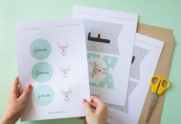 Kit de fiesta para imprimir: Cómo decorar una fiesta temática