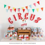Circus Party o cómo decorar una fiesta con imprimibles