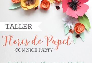 Talleres creativos en Madrid y Barcelona: Flores de papel