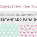 Calendario de adviento DIY: Día 3 papeles estampados