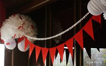 Nice Party: Pompones de papel para una boda