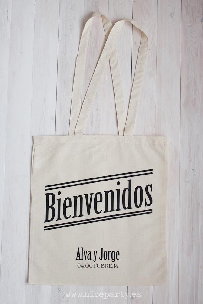 Bolsas de tela para bodas. Regalo para invitados. Bolsas personalizadas. Nice Party