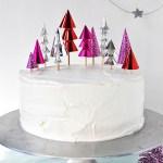 Cosas bonitas: Una tarta con toppers navideños