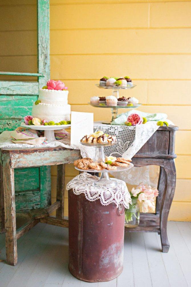 una mesa de dulces que no es una mesa