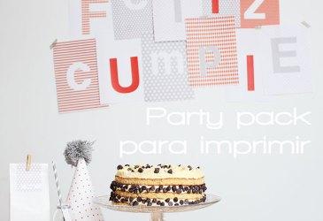 Fiesta imprimible: Cumpleaños gris y naranja