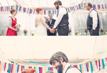 Guirnaldas everywhere: Tiras de colores para una boda