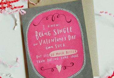 San Valentín: Tarjetas para solteros