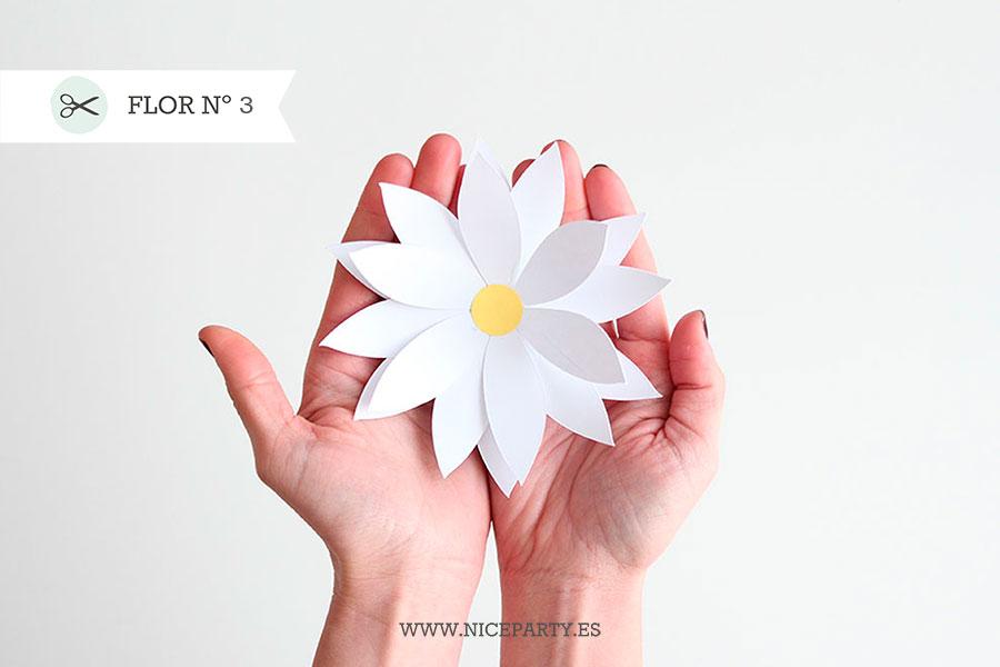 Plantillas Para Flores De Papel Xxl Niceparty