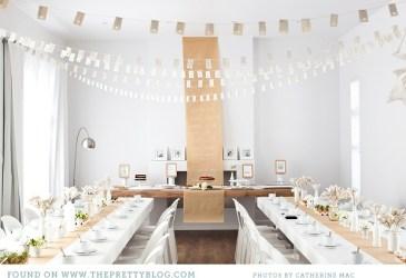 Inspiración: Un bridal shower en blanco y kraft