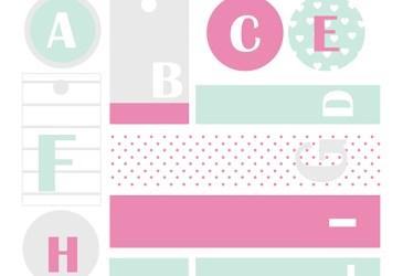 Calendario de adviento DIY: Etiquetas con letras para los regalos