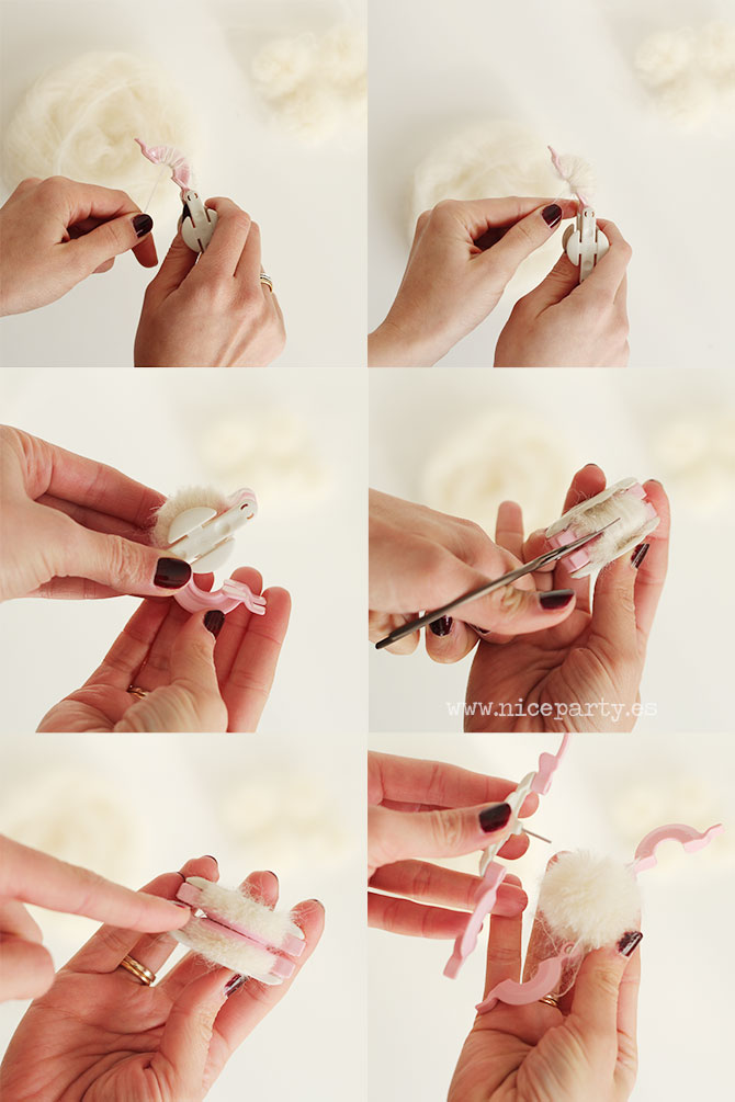 Nice Party DIY tutorial guirnalda pompones (1)