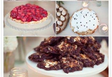 Guirnaldas everywhere: Una mesa de dulces con guirnaldas de tela