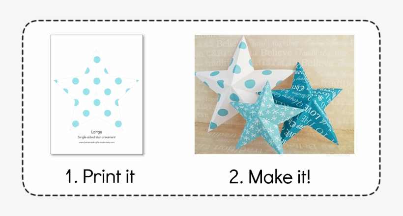 Free Printable Christmas Decorations To Make Fun For 3d Stars Christmas Decoration Transparent Png 731x361 Free Download On Nicepng