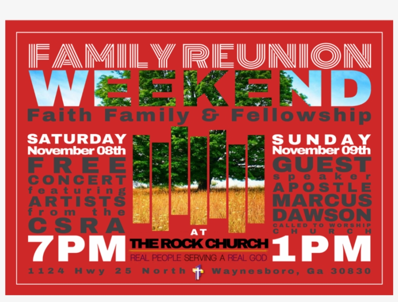 family reunion weekend poster
