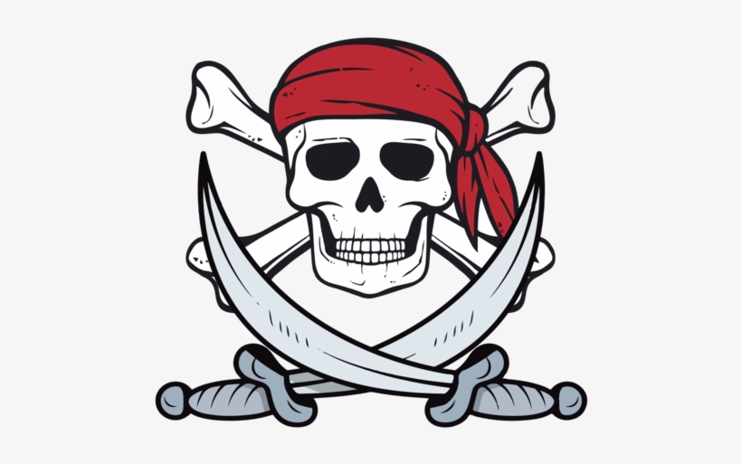 Skull And Crossbone Clipart Jolly Roger Pirate Flag Jolly Roger Pirate Flag T Shirt Skull Transparent Png 500x500 Free Download On Nicepng