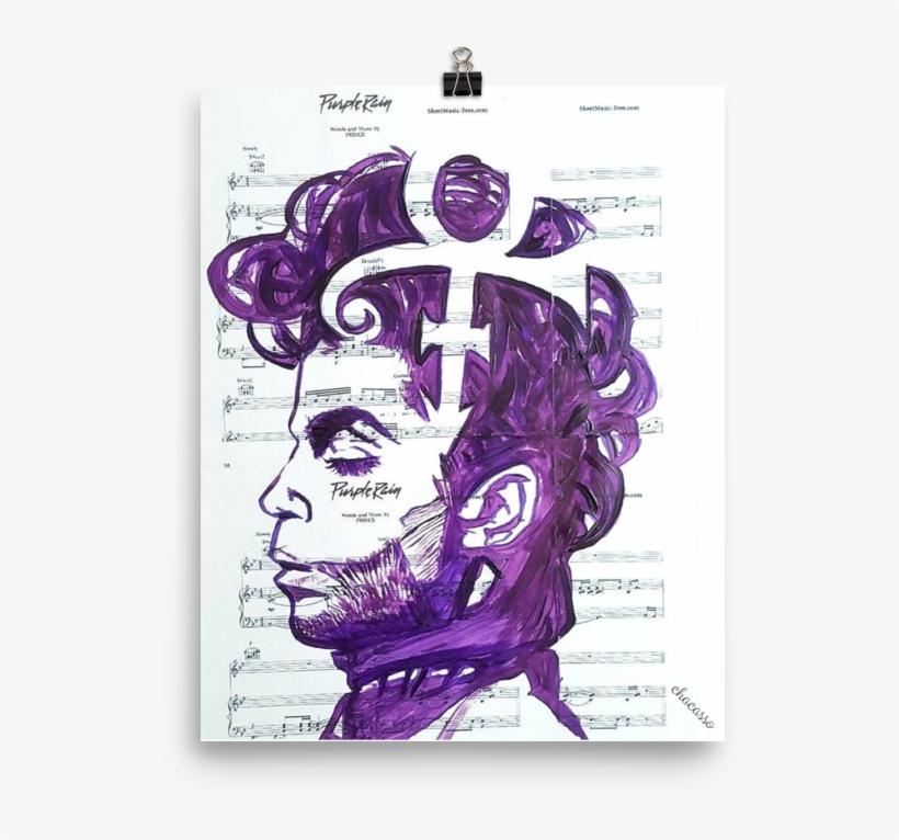 prince purple rain original print