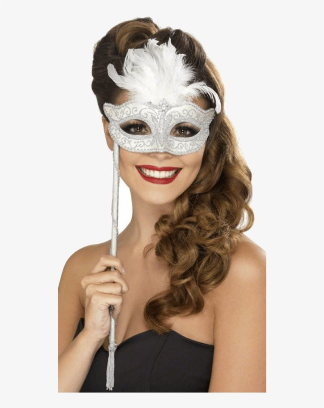 masquerade mask on stick - masquerade ball hairstyles women